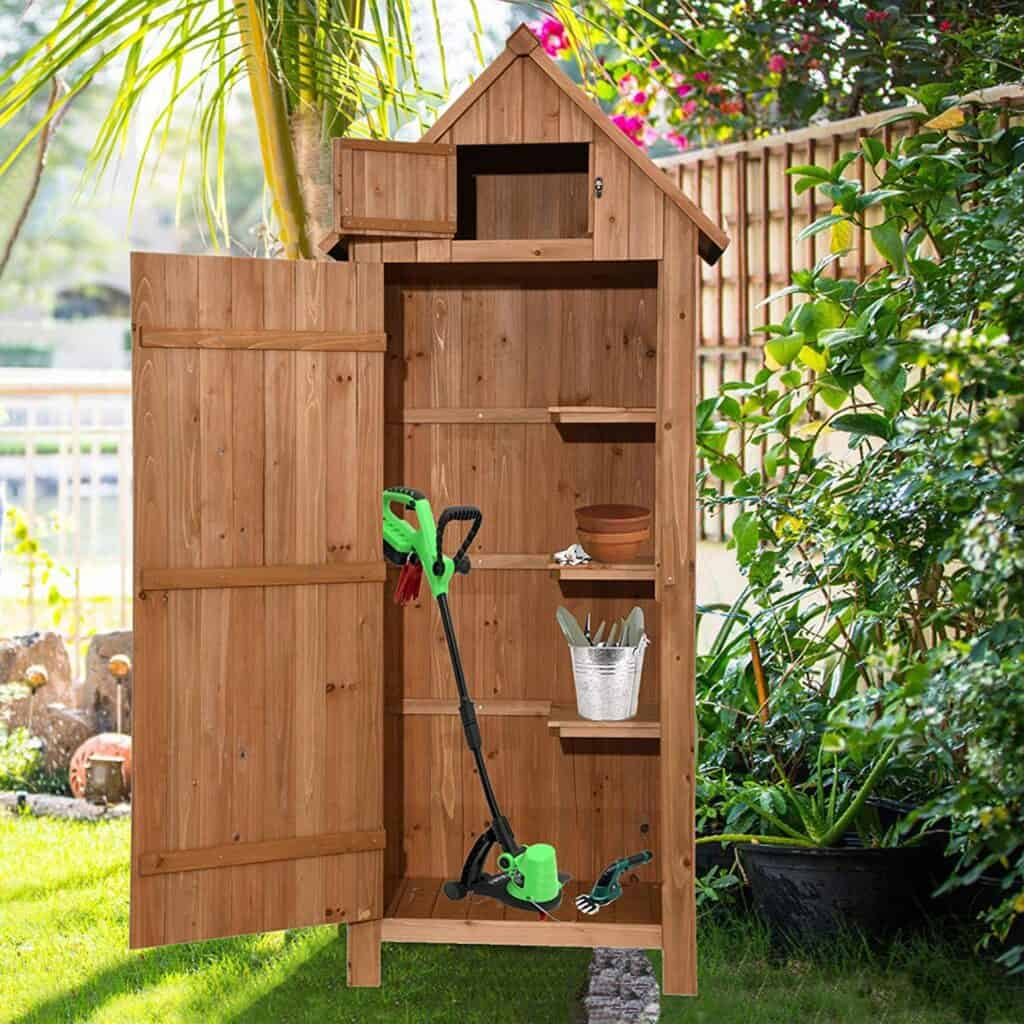 MCombo Wooden Garden Shed