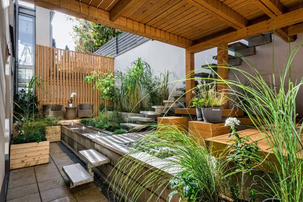 landscape timber ideas