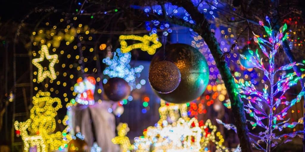 Backyard Lighting Holiday