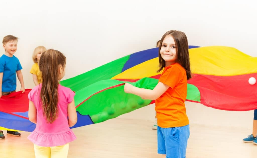 parachute games for kindergarteners