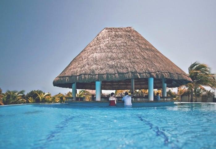Classic Bar Style Inside Pool Cabana