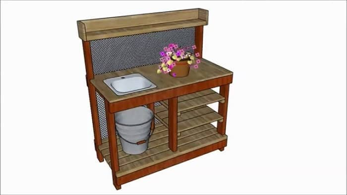 Organized Potting Bench With Sink