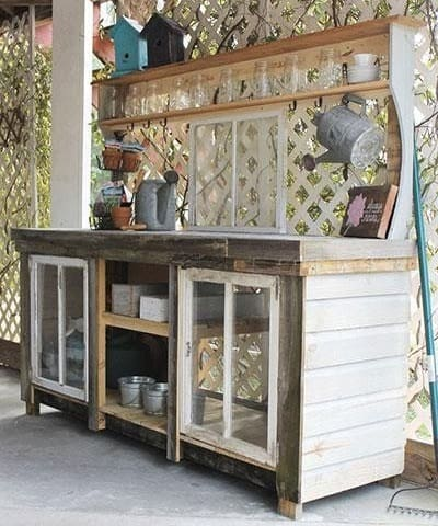 Rustic Reclaimed Potting Bench
