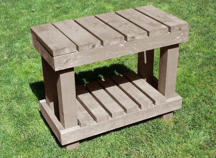 Small and Solid Potting Table