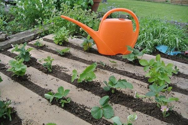 DIY Horizontal Pallet Garden